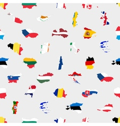 simple color flags all european union countries vector image