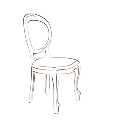 Sketched chair vector image vector image