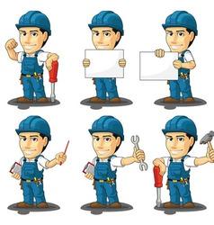 Technician or repairman mascot vector