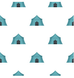 Tourist tent for travel camping pattern vector