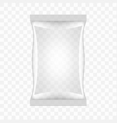 transparent food snack plastic pillow bag vector image