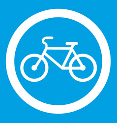 Travel by bicycle is prohibited traffic sign icon vector
