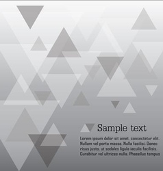 Triangle abstract vector image vector image