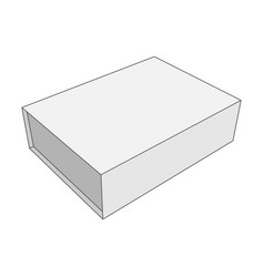 white box template for your business vector image vector image