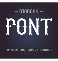 Vintage label font elegant alphabet vector