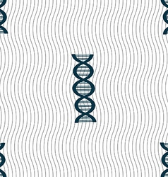 Dna sign seamless pattern with geometric texture vector