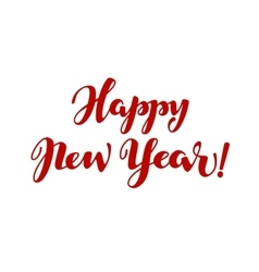 Happy new year lettering calligraphy vector