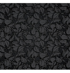 Abstract seamless pattern black vector