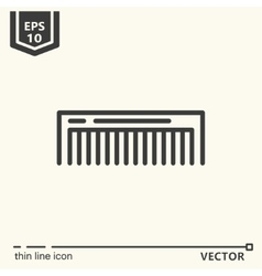 Hairdressing tools icons series comb vector