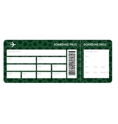 Airplane ticket blank vector