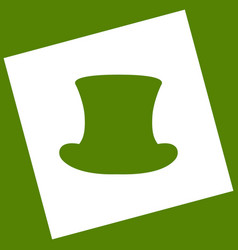 Top hat sign  white icon obtained as a vector