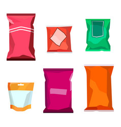 Colorful blank boil food snack packaging for vector