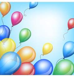 Holiday backgrounds with balloons vector