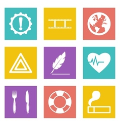 Icons for Web Design and Mobile Applications set 9 vector image