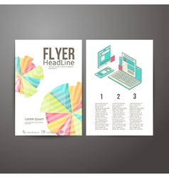 Abstract brochure flyer design mobile and desktop vector