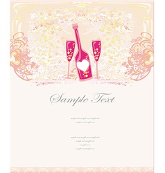 Invitation to cocktail party menu or bar card vector