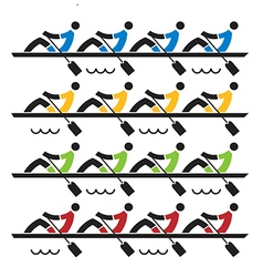 Rowing race vector