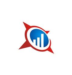 Business finance chart star logo vector