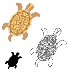 Turtle the outline of the turtle stencil vector