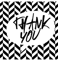 Bw thank you message vector