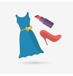 Flat icon gifts for woman vector
