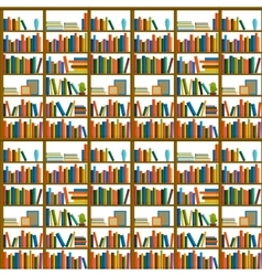 Library bookstore - seamless pattern with books vector