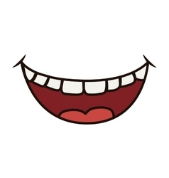 Smile cartoon icon mouth design graphic vector