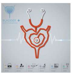 Bladder shape stethoscope health and medical vector