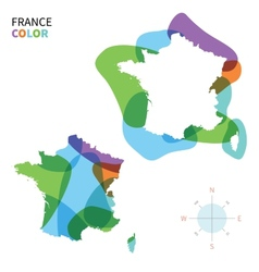 Abstract color map of France vector image