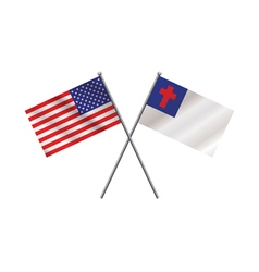 American and Christian Flag vector image vector image