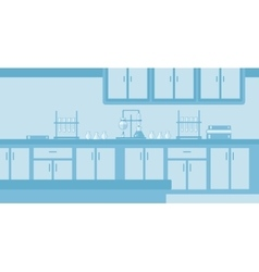 Background of laboratory interior vector