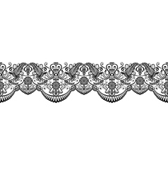 Black lace border vector image vector image