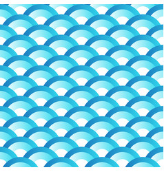 blue wave japanese style seamlesss pattern vector image
