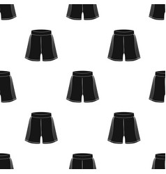 Boxing shorts icon in black style isolated on vector