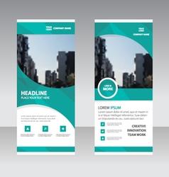 Business roll up banner flat design template set vector