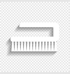 Cleaning brush hygiene tool sign white vector