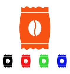 coffee bean pack icon vector image