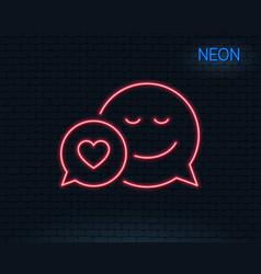 Comic speech bubble with smile line icon vector
