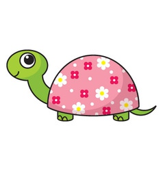 cute cartoon turtle vector image vector image