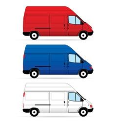 Delivery vans vector