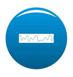 Equalizer sonic icon blue vector
