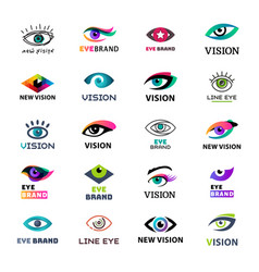Eye blinker business icon glimmer template logo vector