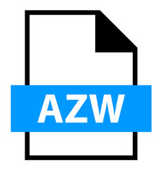 File name extension azw type vector