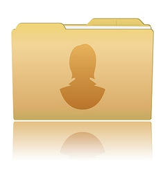 Folder with female silhouette vector