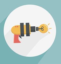 Gun ideas icon vector