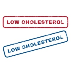 Low cholesterol rubber stamps vector