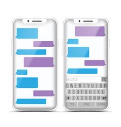 messenger speech bubbles phone chat vector image vector image