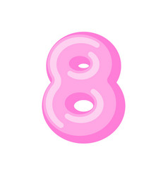 Number 8 candy font caramel alphabet eight vector