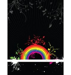 rainbow grunge vector image vector image