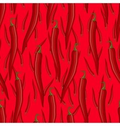 Red hot chili pepper seamless pattern vector